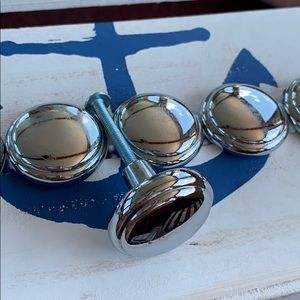 Silver metal knobs
